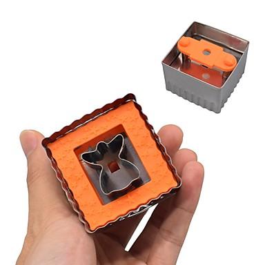 1PC ستانلس ستيل جميل تصميم جديد قادم جديد كعكة بسكويت لكعكة مستطيل Cube قوالب الكيك أدوات حلوى أدوات المعكرونة أدوات خبز