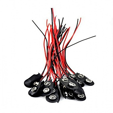 20pcs 9viタイプバッテリースナップコネクター9Vバッテリークリップコネクター