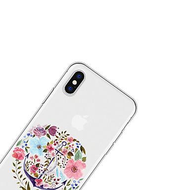 Plus Fantasia decorativo 8 06749431 disegno Plus 8 retro Custodia iPhone iPhone Apple Morbido X Per 8 Per X TPU iPhone per Fiore iPhone iPhone wxnxBfYFq