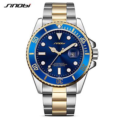 levne Pánské-SINOBI Pánské Náramkové hodinky japonština Křemenný Nerez Stříbro 30 m Voděodolné kreativita Odolný vůči nárazu Analogové Luxus Třpyt Klasické Módní Minimalistické - stříbrná + modrá stříbrná / čern