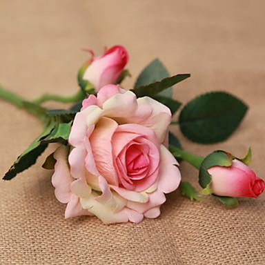 زهور اصطناعية 1 فرع كلاسيكي زهري الورود أزهار الطاولة