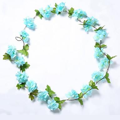 زهور اصطناعية 1 فرع معلقة على الحائط زهري ساكورا أزهار الحائط
