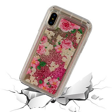 Custodia iPhone Resistente iPhone 8 06826215 TPU Fiore X Per Per X per agli Morbido a Liquido Apple iPhone 8 Transparente 8 cascata iPhone Plus Plus decorativo retro iPhone urti rwxgrEq0S