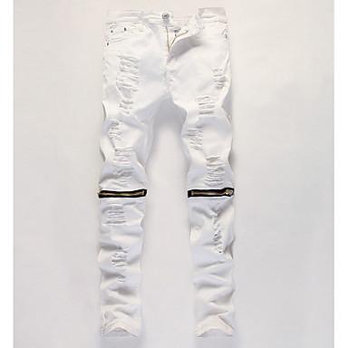 economico Abbigliamento uomo-Per uomo Punk & Gotico Quotidiano Chino Pantaloni - Fantasia geometrica Nero Rosso Beige 36 38 42