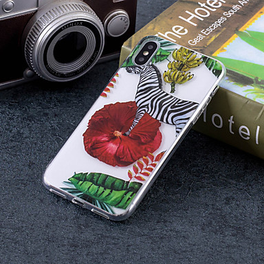 غطاء من أجل Apple iPhone X / iPhone 8 Plus / iPhone 8 IMD / نموذج غطاء خلفي حيوان ناعم TPU
