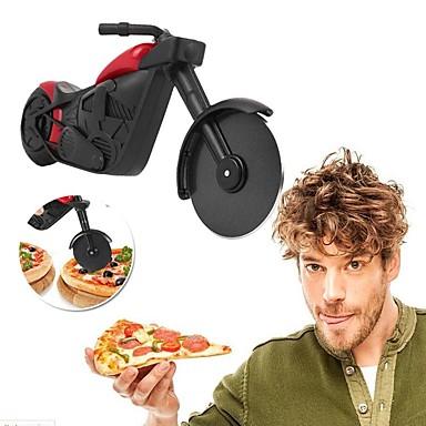 دراجة نارية قطع البيتزا المقاوم للصدأ عجلة سكين الأسطوانة البيتزا المروحية القطاعة