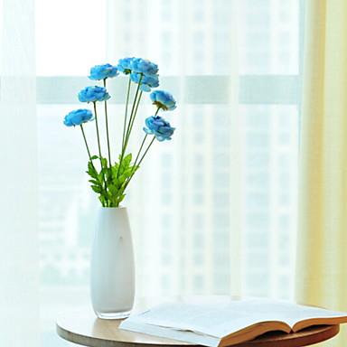 زهور اصطناعية 1 فرع كلاسيكي فردي أنيق الزهور الخالدة أزهار الطاولة