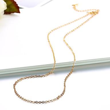 نسائي واحد ستراند قلادات السلسلة مطلية بالذهب سيدات بسيط أساسي موضة محبوب ذهبي فضي 46 cm قلادة مجوهرات 1PC من أجل مناسب للبس اليومي عمل