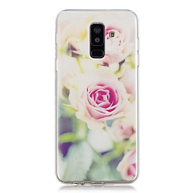 voordelige Galaxy A-serie hoesjes / covers-hoesje Voor Samsung Galaxy A6 (2018) / A6+ (2018) / A3 (2017) Transparant / Patroon Achterkant Bloem Zacht TPU
