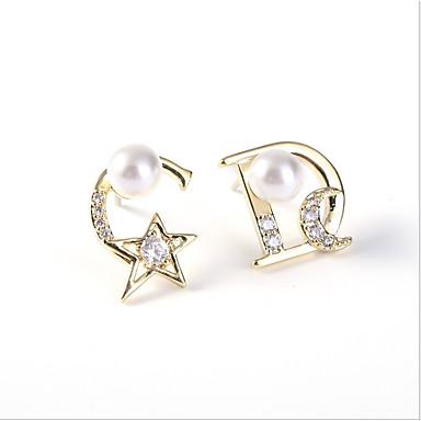 8f1787c36267 abordables Pendientes-Mujer Zirconia Cúbica Perlas de agua dulce Elegante  No coincidente Pendientes sin combinar