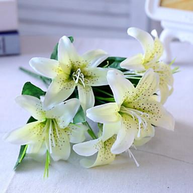 زهور اصطناعية 1 فرع كلاسيكي زهري قرنفل أزهار الطاولة