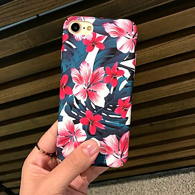 Capinha Para Apple iPhone X / iPhone 8 Áspero / Estampada Capa traseira Flor Rígida PC para iPhone X / iPhone 8 Plus / iPhone 8