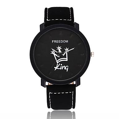 نسائي ساعة المعصم كوارتز جلد أسود / بني ساعة كاجوال مماثل موضة الحد الأدنى - أسود-أسمر أسود / أبيض أبيض / البيج