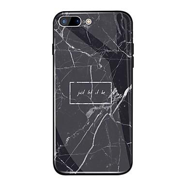 غطاء من أجل Apple iPhone X / iPhone 8 Plus / iPhone 8 مرآة / نموذج غطاء خلفي جملة / كلمة / حجر كريم قاسي TPU / زجاج مقوى