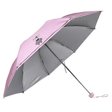 البوليستر / ستانلس ستيل للفتيات مشمس وممطر مظلة ملطية