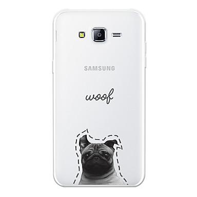 voordelige Galaxy J-serie hoesjes / covers-hoesje Voor Samsung Galaxy J7 (2017) / J7 (2016) / J7 Patroon Achterkant Hond / Woord / tekst / Cartoon Zacht TPU