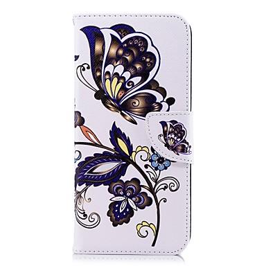 غطاء من أجل Samsung Galaxy S9 / S9 Plus / S8 Plus محفظة / حامل البطاقات / مع حامل غطاء كامل للجسم فراشة قاسي جلد PU