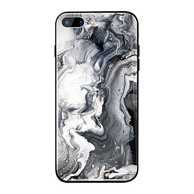 غطاء من أجل Apple iPhone X / iPhone 8 Plus / iPhone 8 مرآة / نموذج غطاء خلفي حجر كريم قاسي TPU / زجاج مقوى