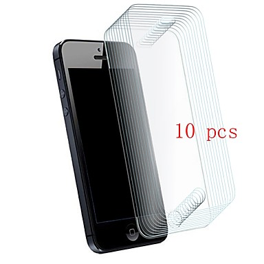 Screen Protector pro Apple iPhone SE / 5s / iPhone 5 Tvrzené sklo 10 ks Fólie na displej 9H tvrdost / Odolné proti poškrábání