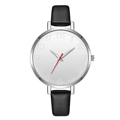 Geneva نسائي ساعة المعصم كوارتز جلد أسود تصميم جديد ساعة كاجوال كوول مماثل سيدات كاجوال موضة - فضي / الأبيض أسود / فضي سنة واحدة عمر البطارية