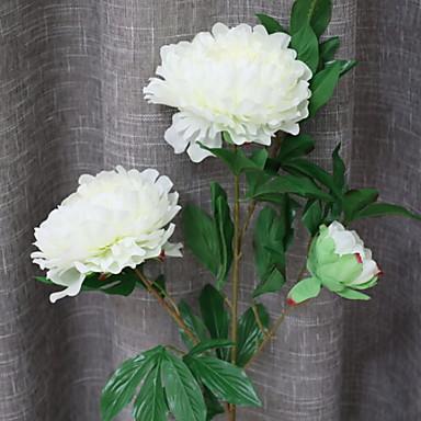 زهور اصطناعية 1 فرع كلاسيكي الحديث المعاصر أسلوب بسيط الفاوانيا أزهار الأرض