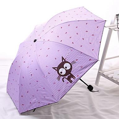 البوليستر / ستانلس ستيل نسائي قابلة لإعادة التدوير مظلة ملطية