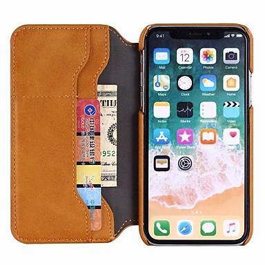 per Plus X pelle Porta Custodia Con iPhone Resistente iPhone unita portafoglio Apple 8 di vera iPhone Per carte Integrale 8 iPhone iPhone chiusura 06787792 X A 8 credito magnetica Tinta gqF1q