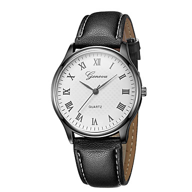 69f306e5c Geneva Women's Wrist Watch Quartz New Design Casual Watch Cool Leather Band  Analog Casual Fashion Black / Brown - Black / White White / Brown Black /  Rose ...