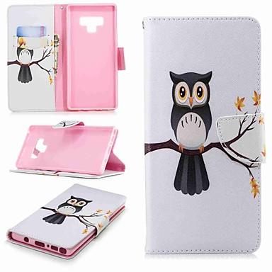 غطاء من أجل Samsung Galaxy Note 9 / Note 8 محفظة / حامل البطاقات / مع حامل غطاء كامل للجسم بوم قاسي جلد PU