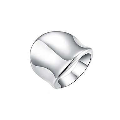 Pentru femei Band Ring degetul mare femei Neobijnuit Design Unic Modă Argilă Aliaj Inele la Modă Bijuterii Argintiu Pentru Zilnic 8