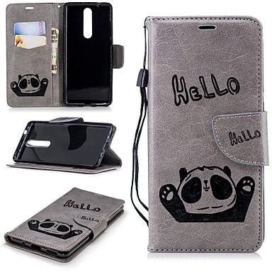 غطاء من أجل نوكيا Nokia 5 / Nokia 5.1 / Nokia 3 محفظة / حامل البطاقات / مع حامل غطاء كامل للجسم باندا قاسي جلد PU