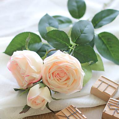 زهور اصطناعية 1 فرع فردي أنيق الورود أزهار الطاولة
