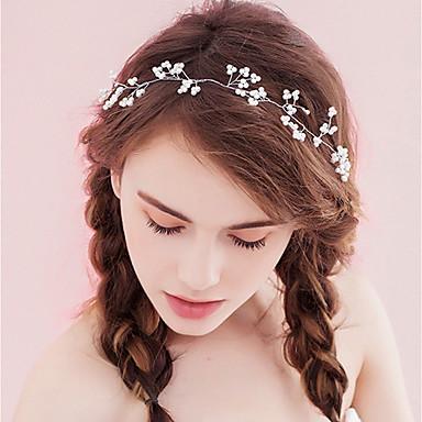 نسائي بسيط قماش سبيكة كريستال رباطات شعر مناسب للحفلات مراسم - ورد