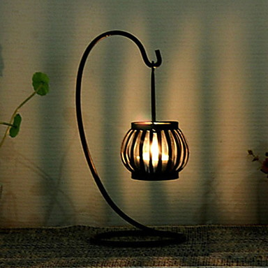 Simple Style Iron Candle Holders 1pc, Candle / Candle Holder