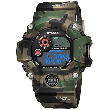 SYNOKE رجالي ساعة رياضية ساعة رقمية رقمي جلد اصطناعي أزرق / أحمر / أخضر 50 m مقاوم للماء رزنامه الكرونوغراف رقمي موضة - أحمر أخضر أزرق / ساعة التوقف / قضية