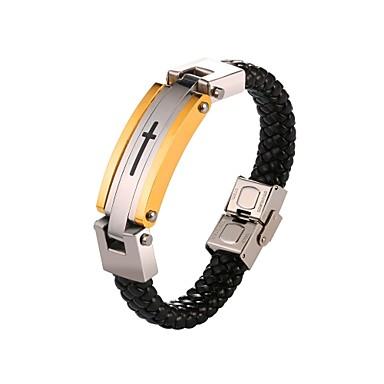 رجالي تلوح في الأفق سوار حبل صليب موضة الفولاذ المقاوم للصدأ مجوهرات سوار ذهبي من أجل هدية مناسب للبس اليومي