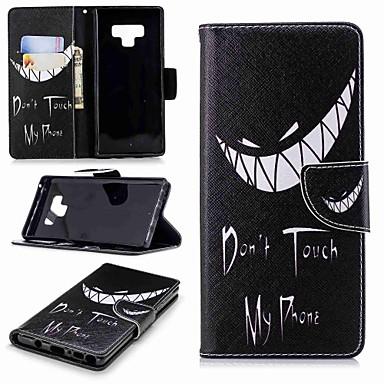 Недорогие Чехлы и кейсы для Galaxy Note 3-Кейс для Назначение SSamsung Galaxy Note 5 / Note 4 / Note 3 Кошелек / Бумажник для карт / со стендом Чехол Слова / выражения Твердый Кожа PU