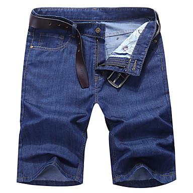 رجالي أساسي مناسب للبس اليومي شورتات بنطلون - لون سادة أزرق أزرق فاتح 36 38 35