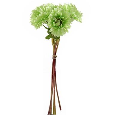 زهور اصطناعية 1 فرع كلاسيكي فردي زهري الإقحوانات أزهار الطاولة
