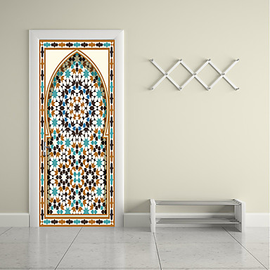 ملصقات الباب - لواصق تجريدي / ديني غرفة الجلوس / غرفة النوم