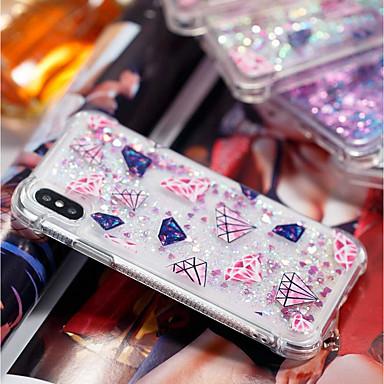 غطاء من أجل Apple iPhone X / iPhone 8 Plus ضد الصدمات / سائل متدفق / شفاف غطاء خلفي نموذج هندسي ناعم TPU إلى iPhone X / iPhone 8 Plus / iPhone 8