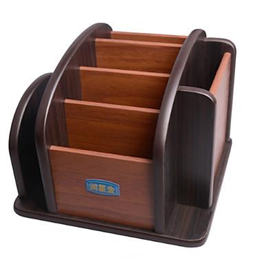 خشب مستطيل إبداعي الصفحة الرئيسية منظمة, 1PC تخزين الماكياج
