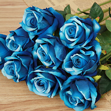 زهور اصطناعية 1 فرع كلاسيكي أنيق الورود أزهار الطاولة