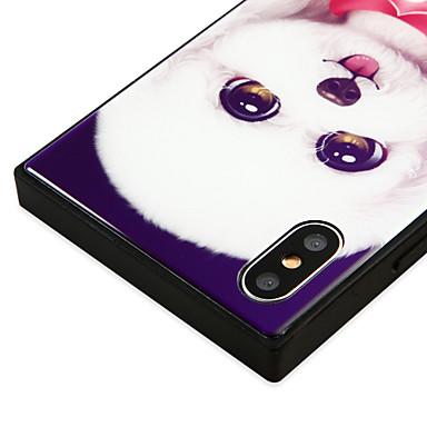 8 Fantasia Vetro cagnolino Plus iPhone iPhone Con 06787634 Resistente Apple 8 X iPhone X Per iPhone Custodia disegno per retro Per temperato PqCfIRwxR