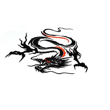 أسود / أبيض / فضي Car Stickers استايل صيني ملصقات الباب حيوان ملصقات