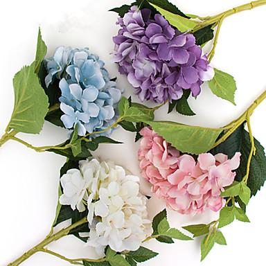 زهور اصطناعية 1 فرع كلاسيكي رجعي أوروبي أرطنسية أزهار الطاولة