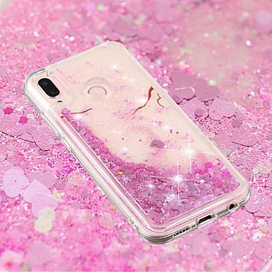 غطاء من أجل Huawei Huawei P20 / Huawei P20 Pro / Huawei P20 lite سائل متدفق / شفاف / نموذج غطاء خلفي زهور ناعم TPU