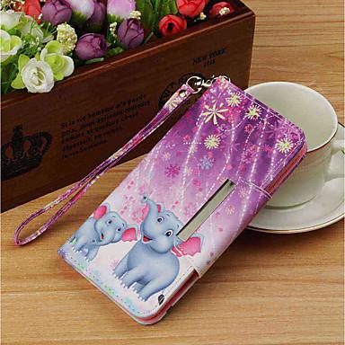 غطاء من أجل Huawei Huawei P20 / Huawei P20 Pro / Huawei P20 lite محفظة / حامل البطاقات / مع حامل غطاء كامل للجسم فيل قاسي جلد PU