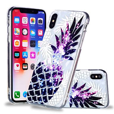 voordelige iPhone 6 hoesjes-hoesje Voor Apple iPhone X / iPhone 8 Plus / iPhone 8 Patroon Achterkant Voedsel / Fruit Zacht TPU