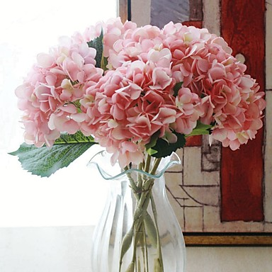 زهور اصطناعية 1 فرع كلاسيكي فردي الزفاف أرطنسية أزهار الطاولة